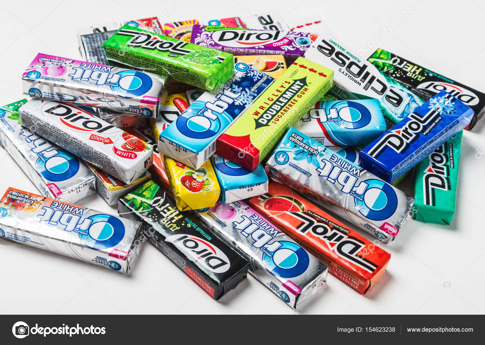 various brand chewing gum – Stock Editorial Photo ...