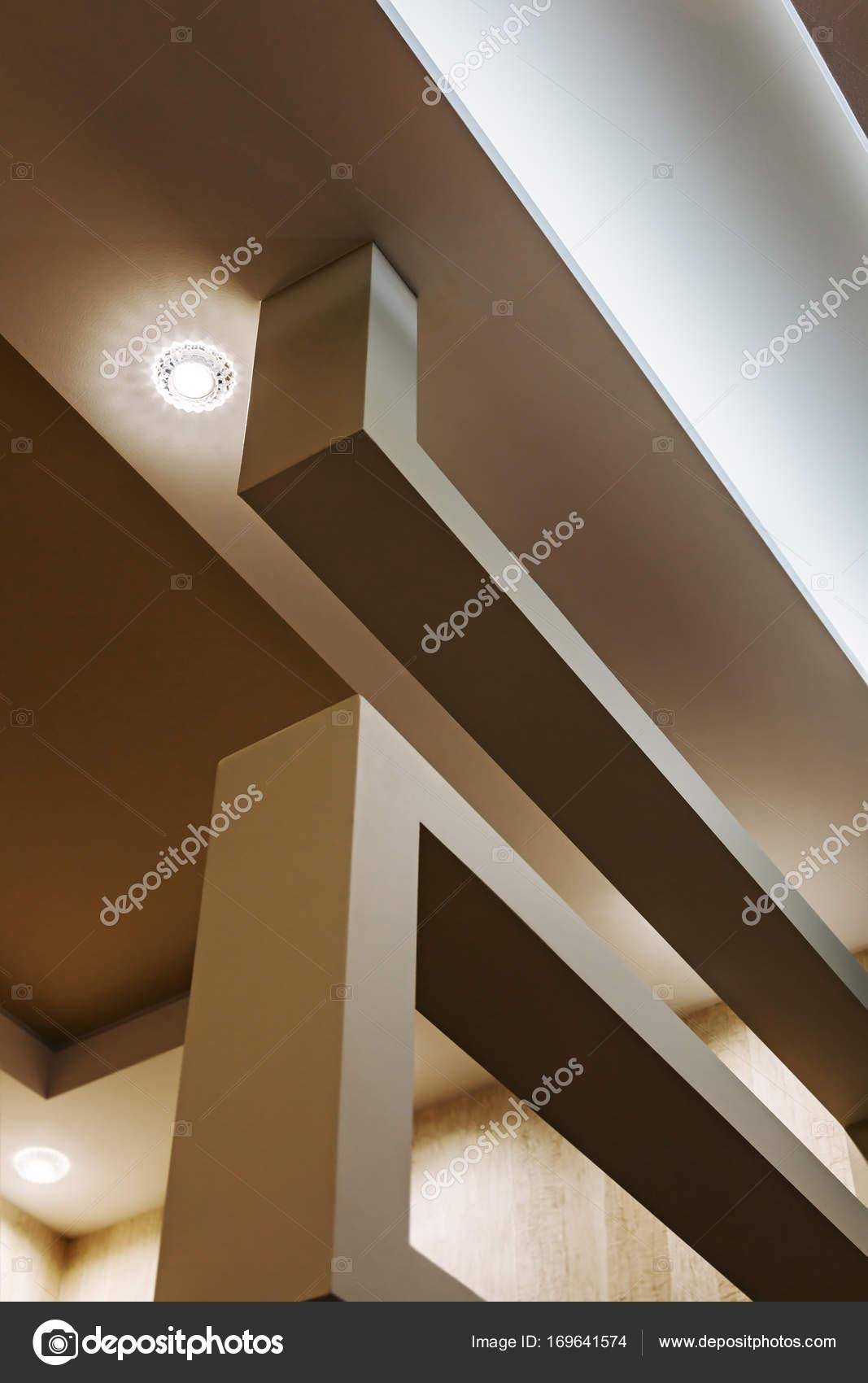 Abgehangte Decke Und Trockenbau Bau In Der Dekoration Stockfoto