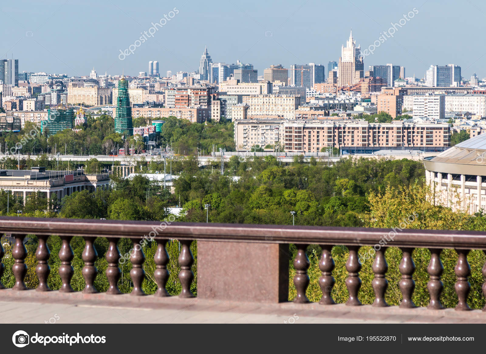 Moscow, Vorobyevy Gory: observation deck 15