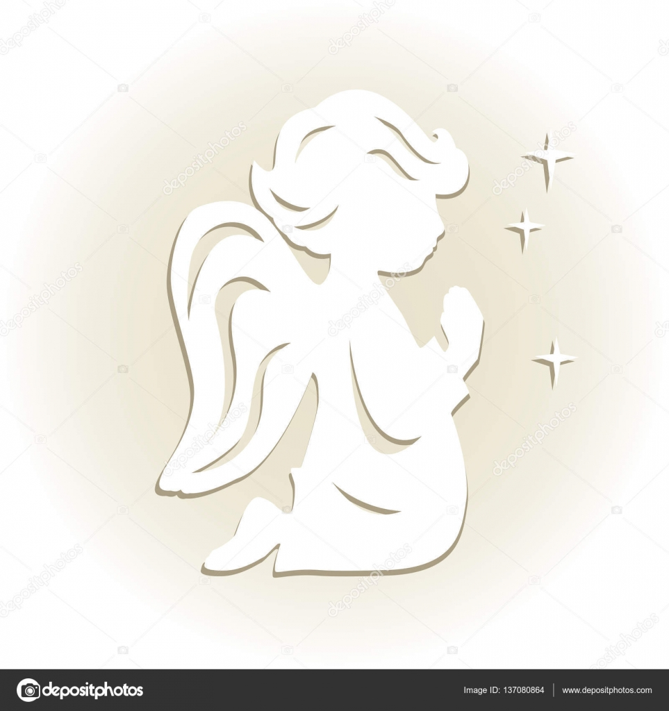 Template Angel For Decoration Stock Vector Sivanova