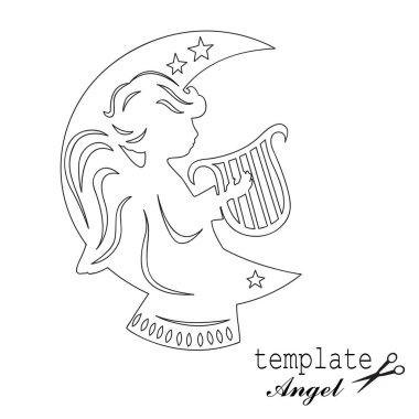Template angel,isolated on white.