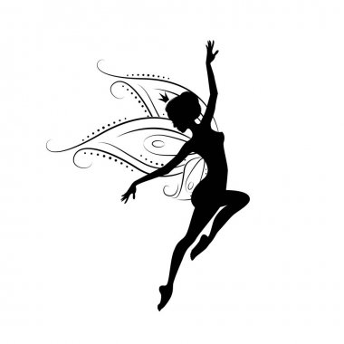Silhouette of a fairy.
