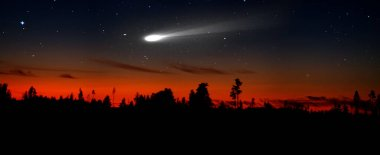 Bloody sunset and the comet portends hard times