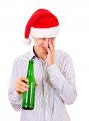 Fotografie Müde, jungen Mann mit einem Bier