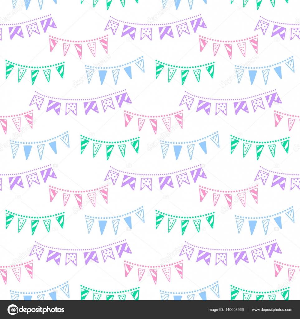 Banderas de partido del empavesado garland patrón transparente de ...