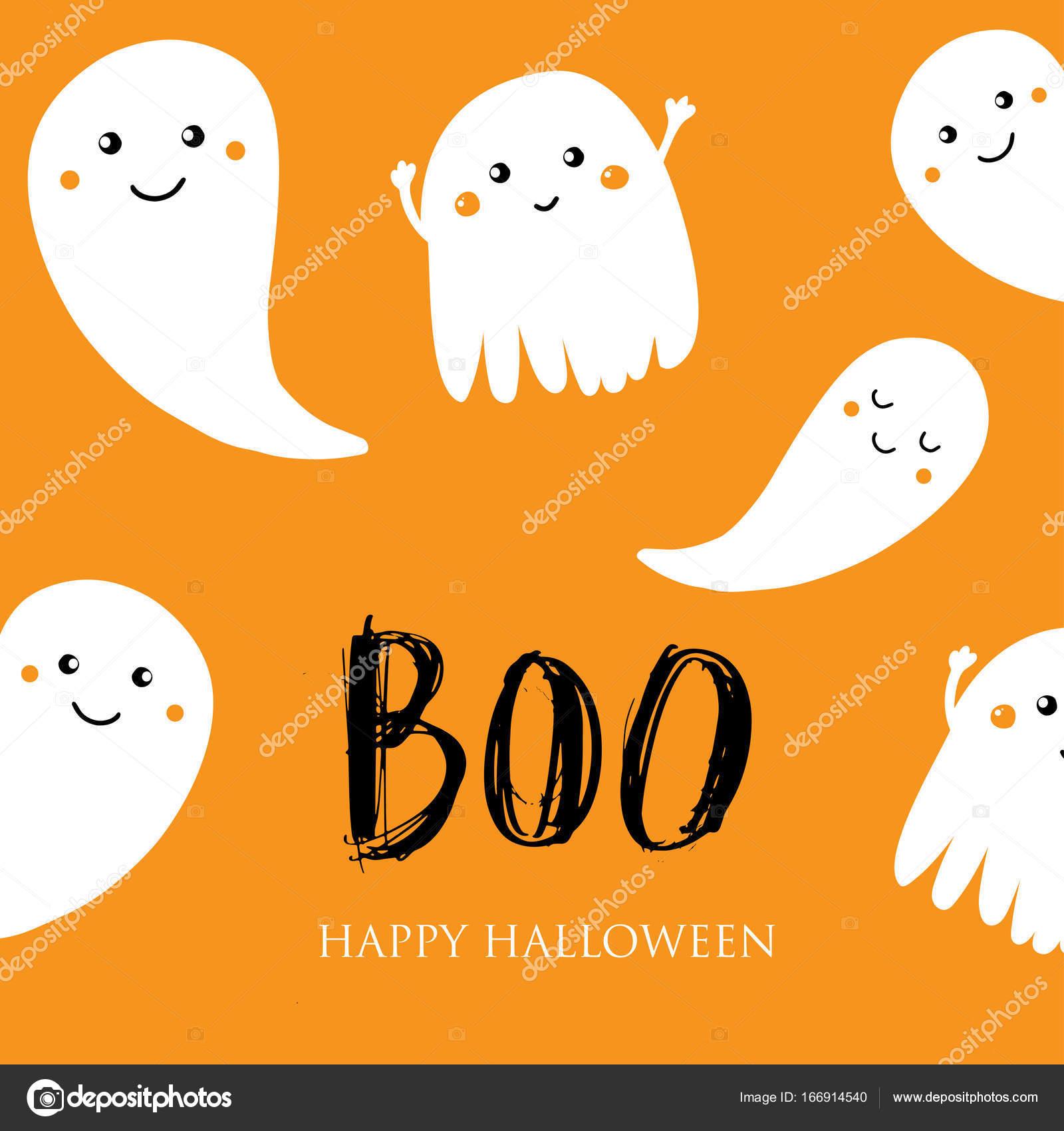 ładny Halloween Zaproszenia Lub Karty Z Pozdrowieniami Grafika
