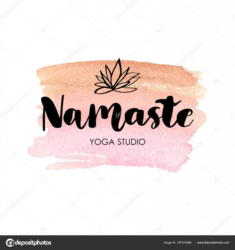 Hand drawn namaste card. — Stock Vector © mcherevan #167010986