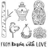 Sammlung russischer Doodle-Ikonen