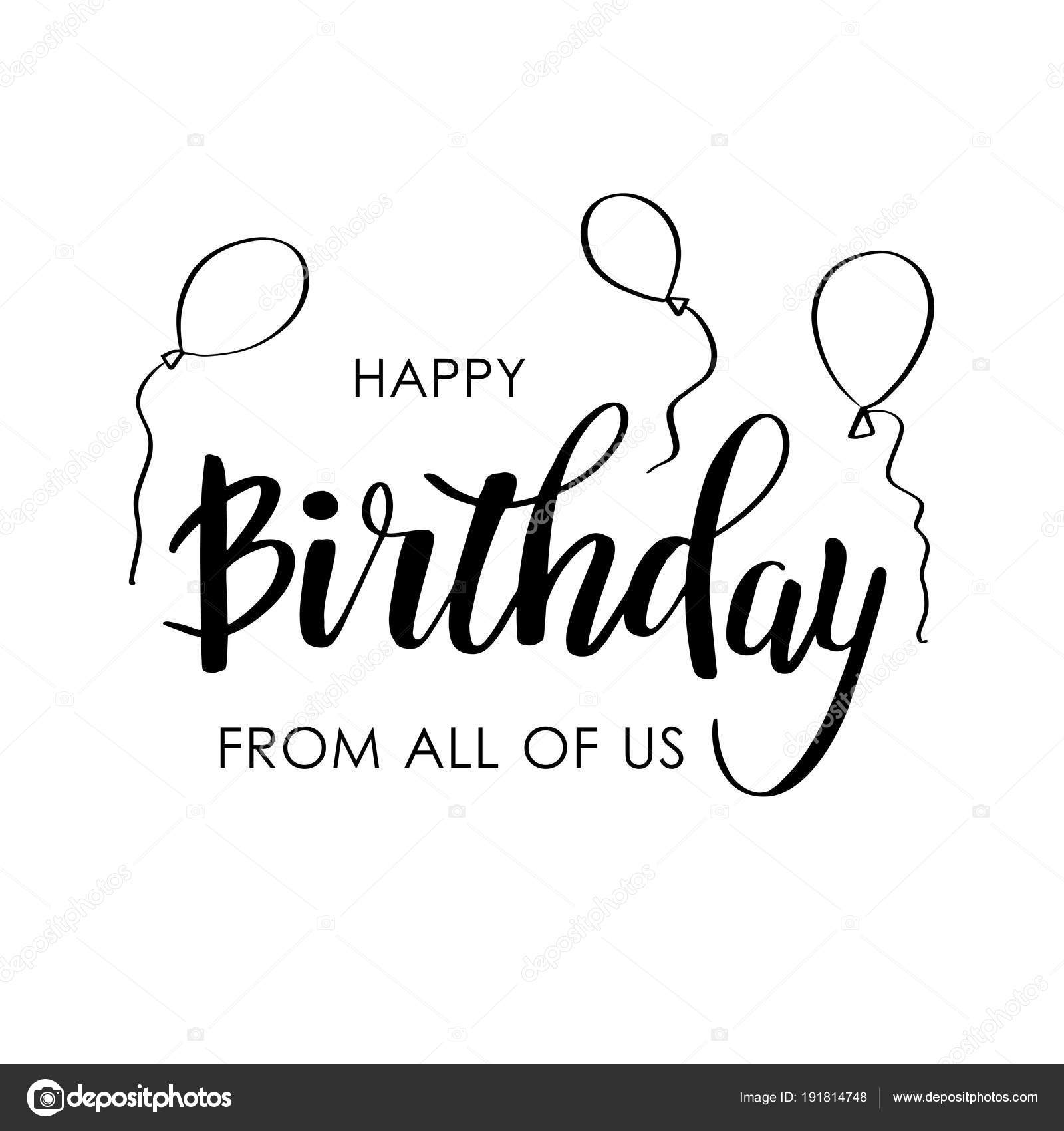 Happy birthday greeting card with lettering design stock vector happy birthday greeting card with lettering design stock vector m4hsunfo