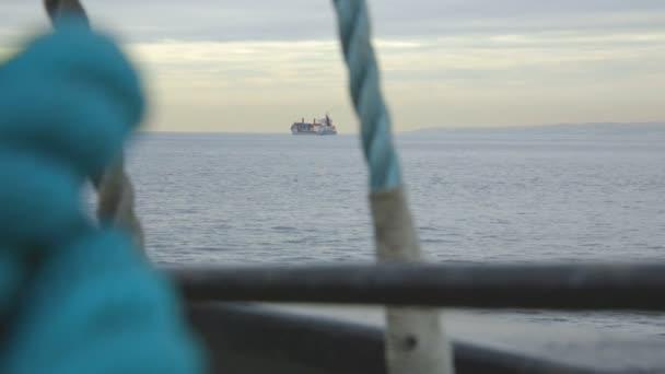Loď přepravující náklad.