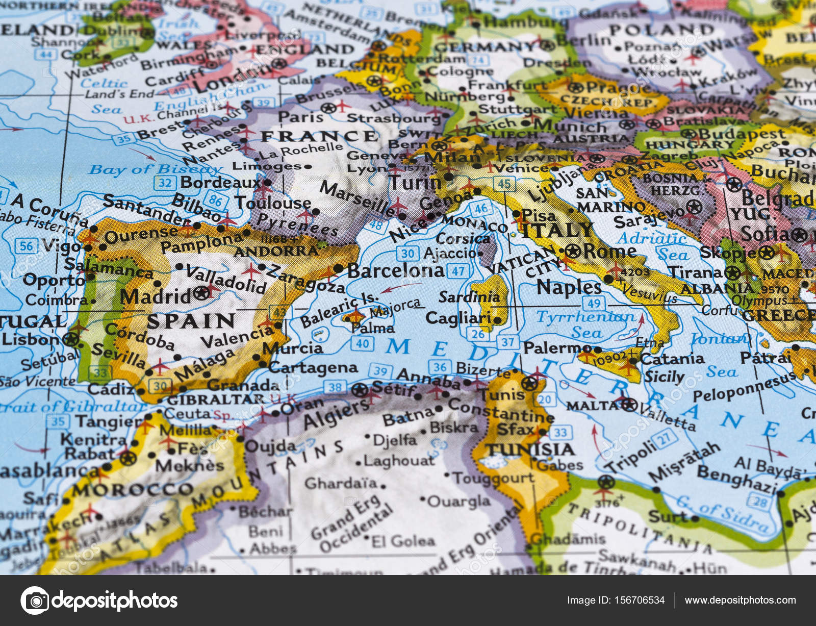 Map of Southern Europe – Stock Editorial Photo ...