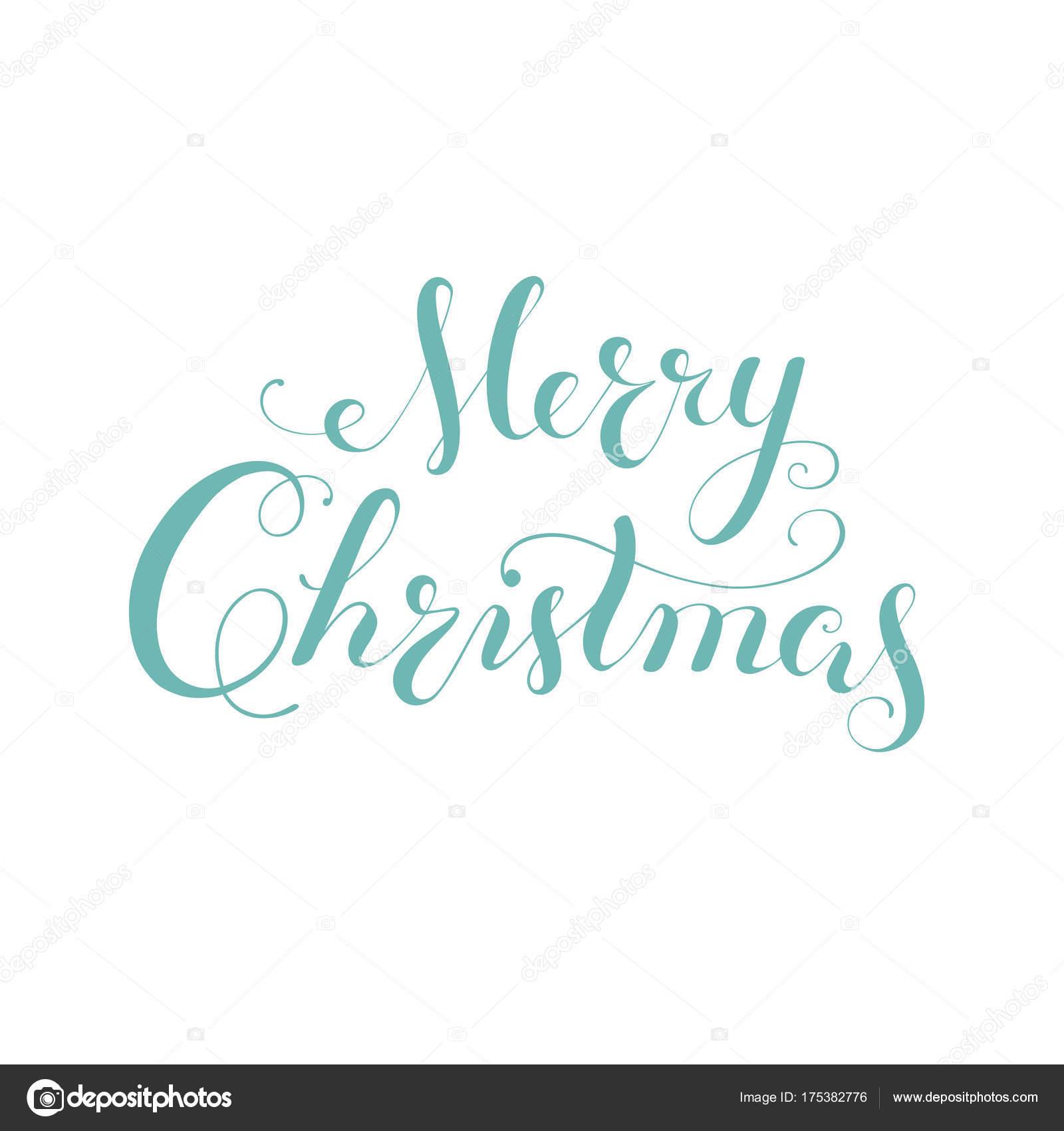 Frohe Weihnachten-Kalligraphie-Schriftzug. Kreative Typografie ...