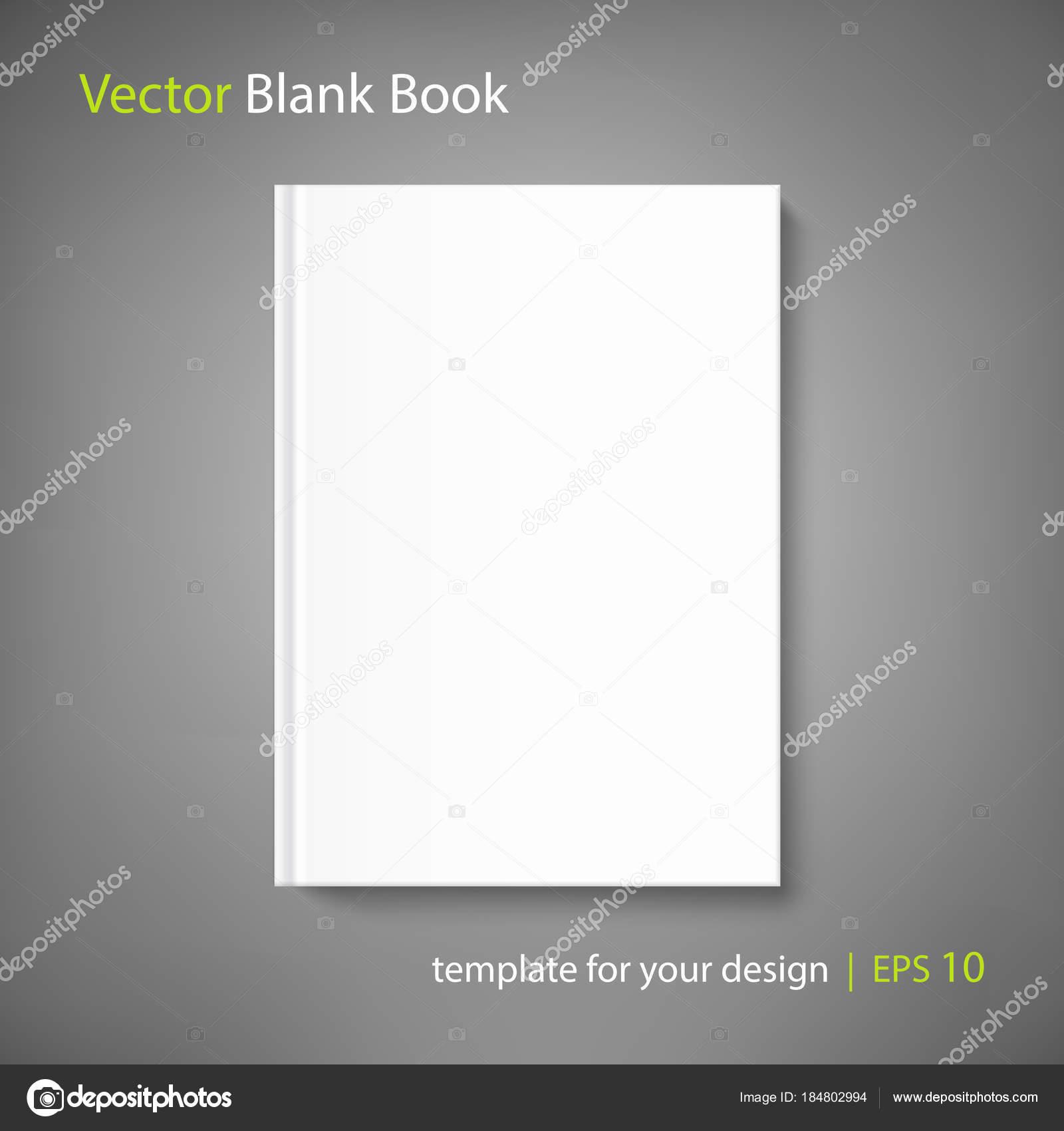 Leeres Buch-Cover-Vorlage auf grauem Hintergrund — Stockvektor ...