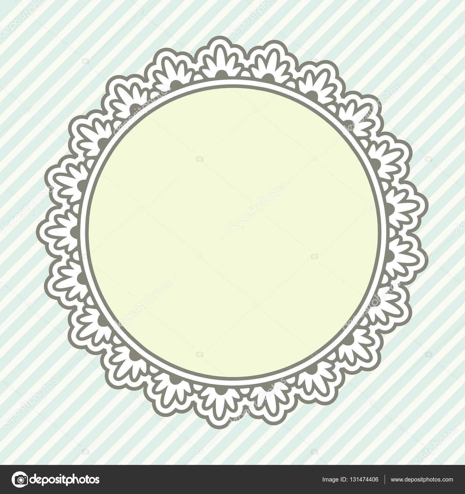 Runde Vintage frame — Stockvektor © de-kay #131474406