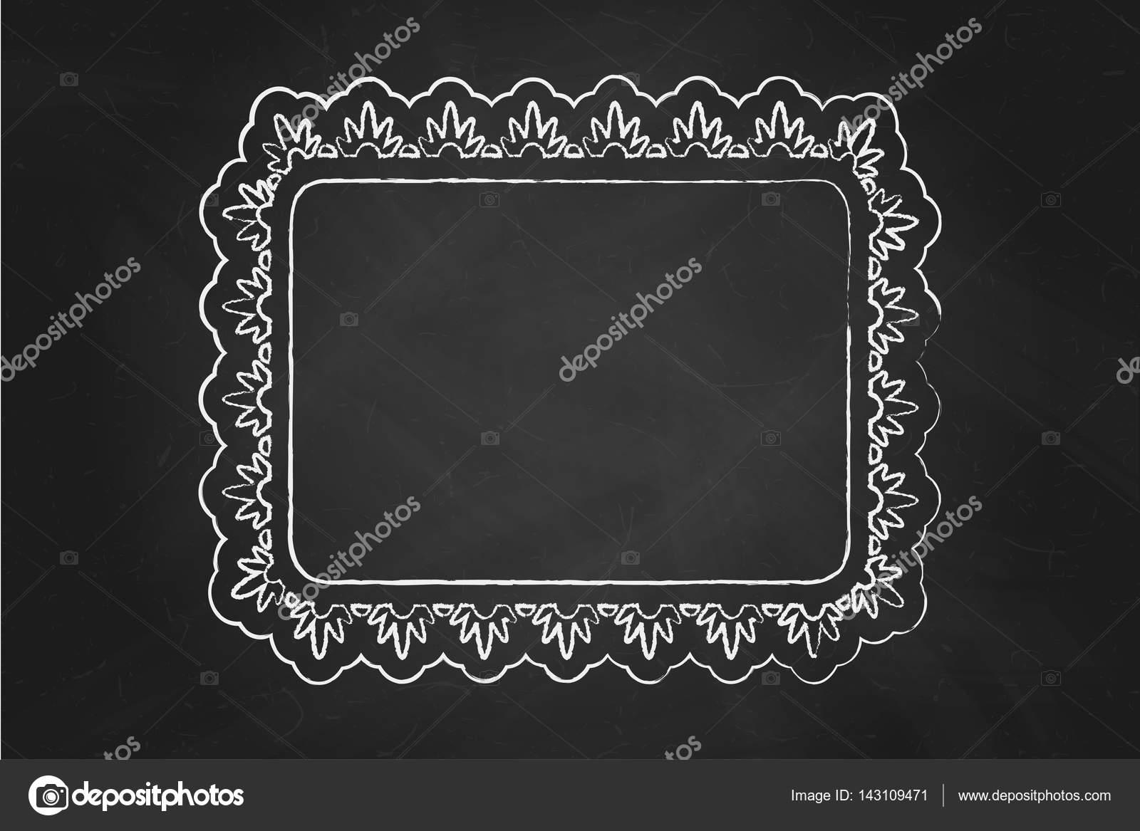 Marco adornado de tiza — Vector de stock © de-kay #143109471