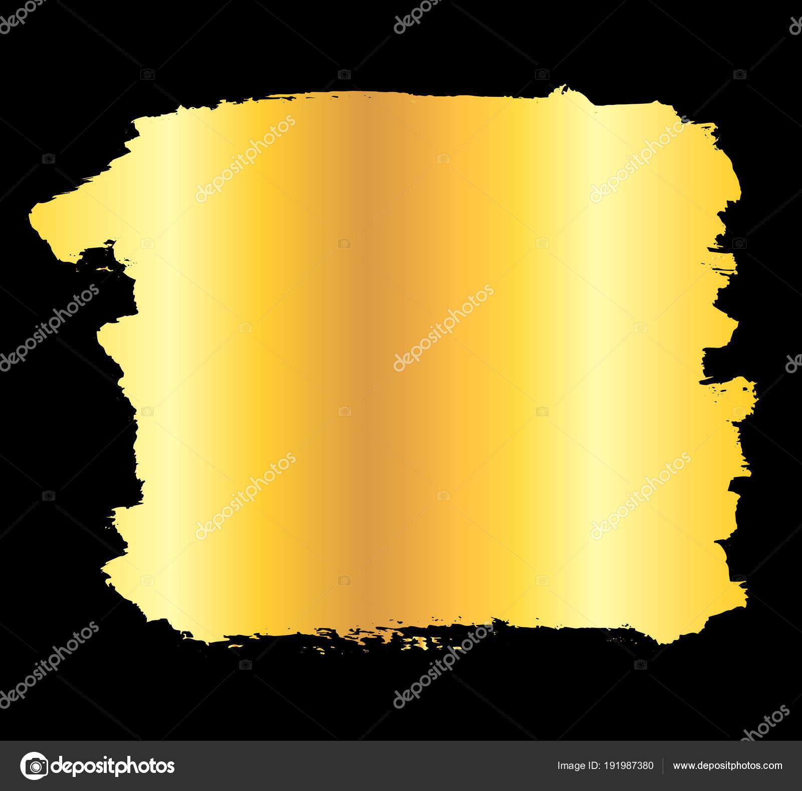 Marco de trazo de pintura oro — Archivo Imágenes Vectoriales © de ...