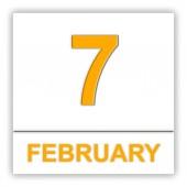 7. únor. den v kalendáři.