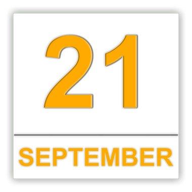 September 21. Day on the calendar.