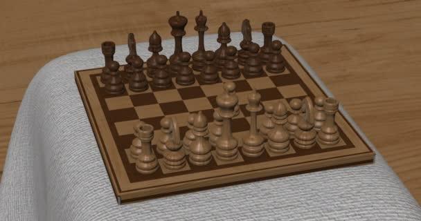 animace šachy v pohybu