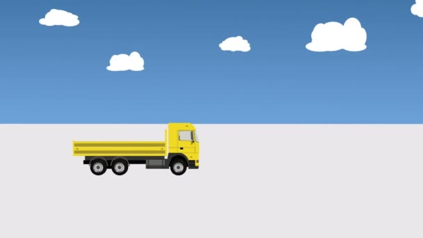 Lorry Without Cargo Moves on the Road