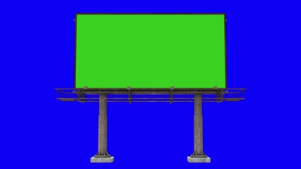 Velký billboard se zelenou obrazovkou
