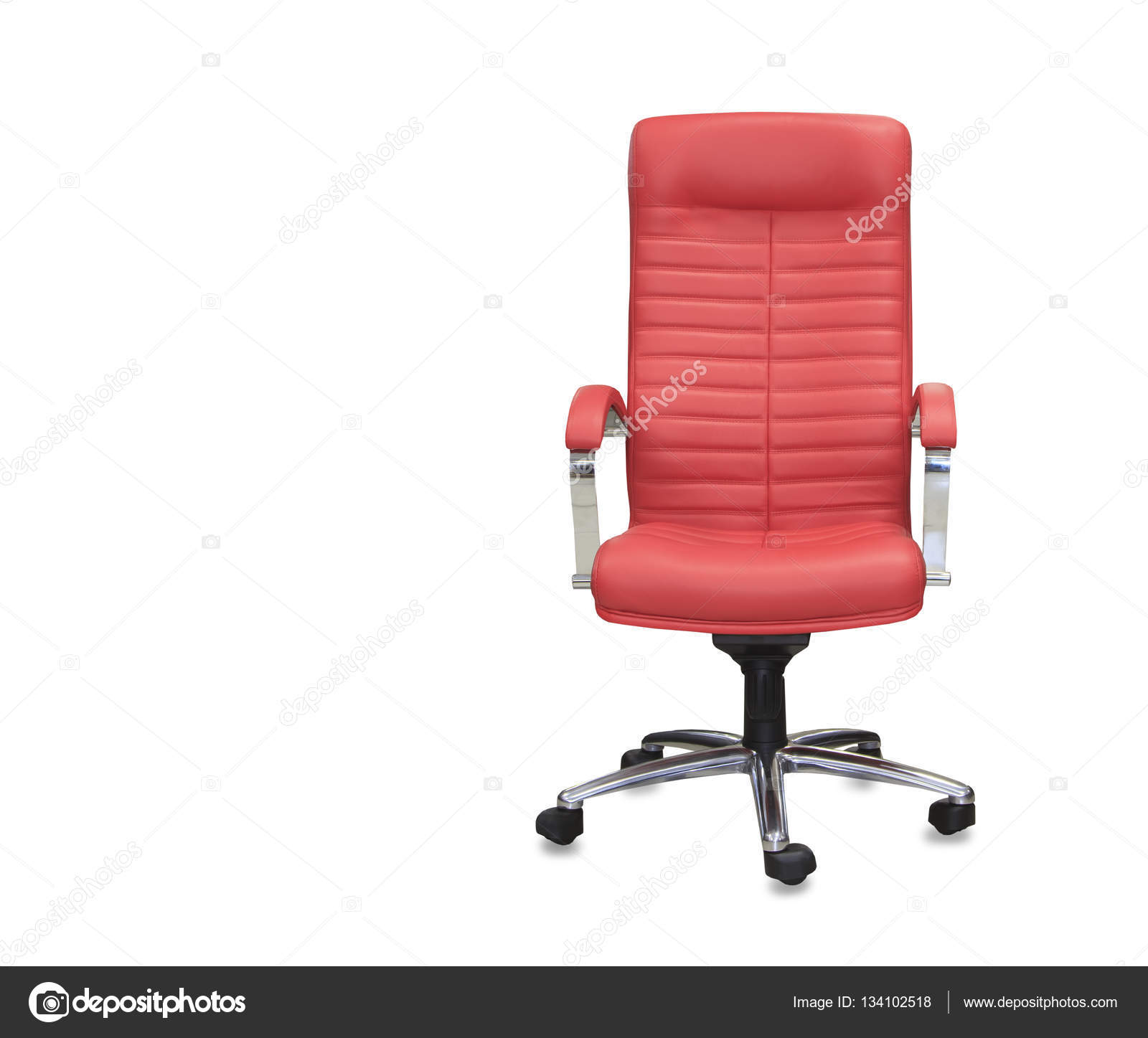 Bureaustoel Rood Leer.Moderne Bureaustoel Van Rood Leer Geisoleerd Stockfoto C Kurganov