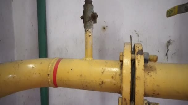 Druckmesser an Erdgaspipeline.