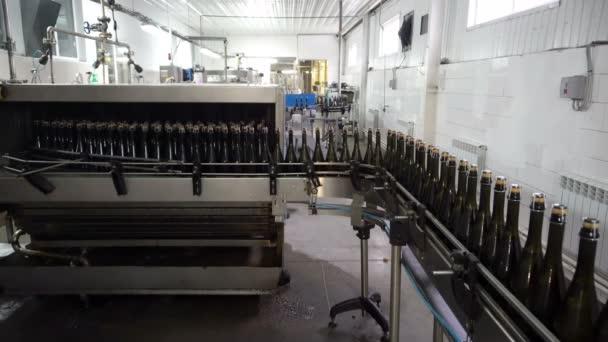 Abfüllung und Versiegelung von Förderbändern in der Weinkellerei