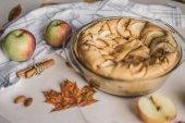 Freshly baked homemade apple pie