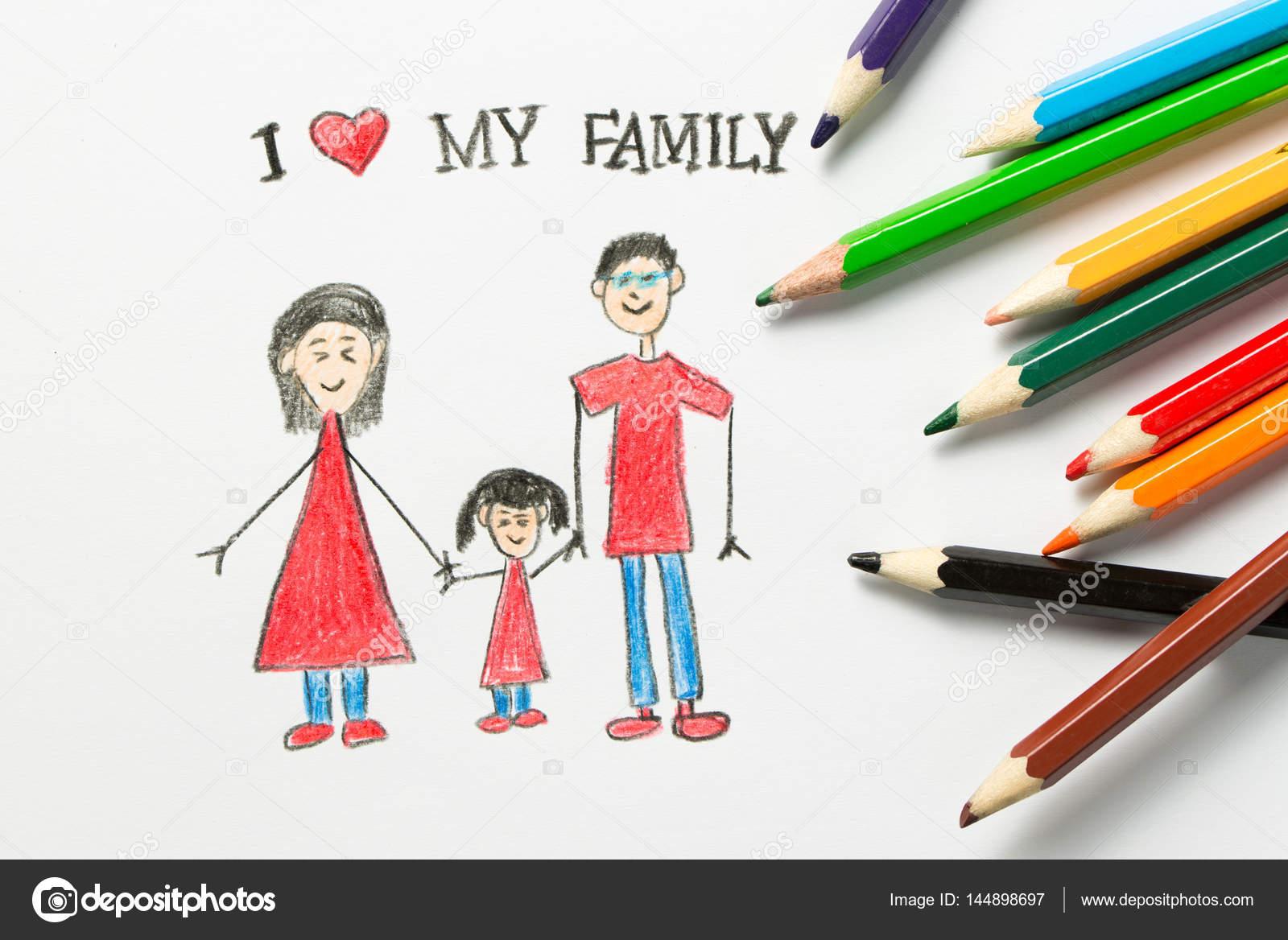 На руке я люблю свою семью