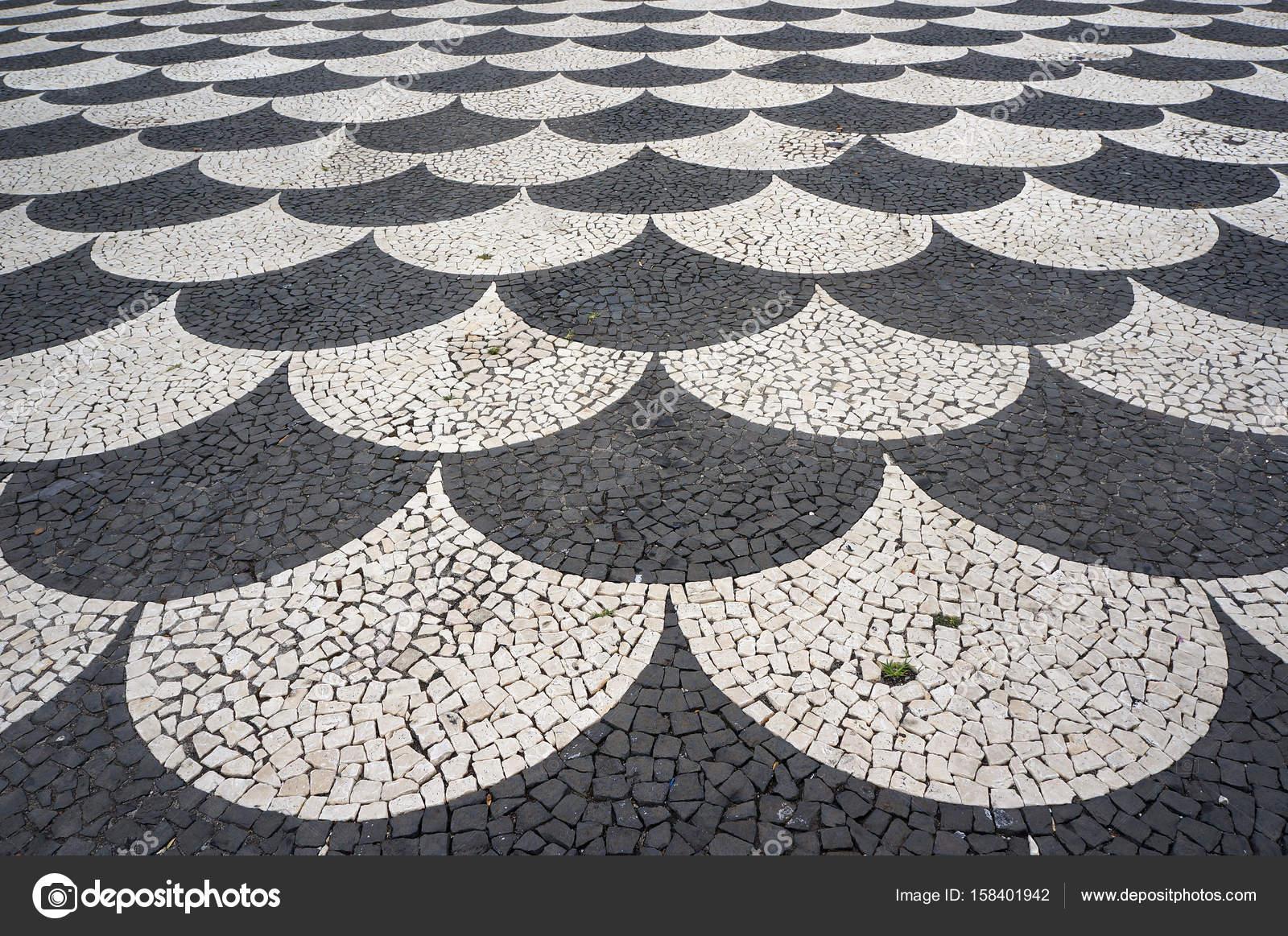 Reticolo della pavimentazione piastrelle mosaico a funchal
