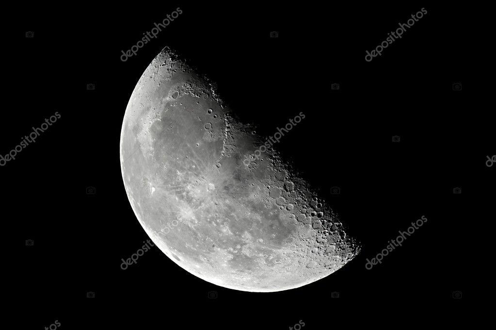 Moon detailed closeup