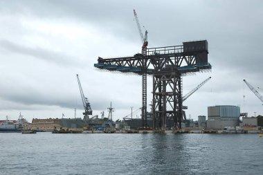 Dock with cranes