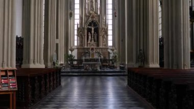 Cathedral interior bright daylight