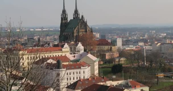 Brno town view Petrov Church