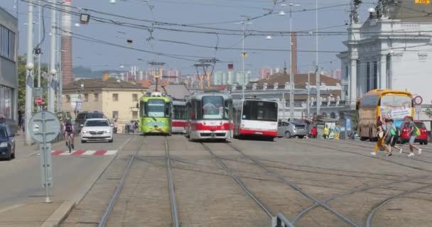 Tramvajová zastávka v Brně
