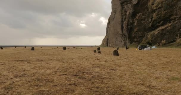 Islandský krajina s útesy