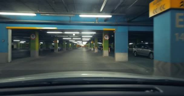 Driving in a parking lot basement