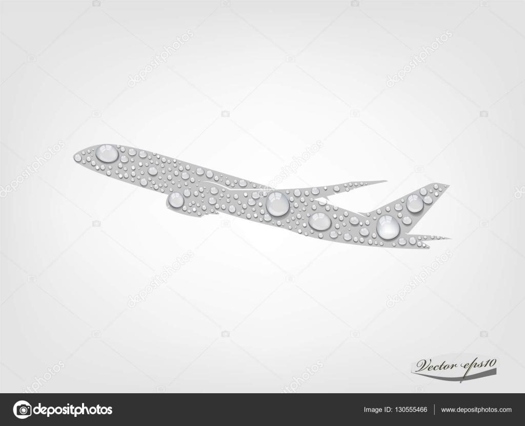 design graphique vecteur d avion de goutte d eau transparente le concept de transport. Black Bedroom Furniture Sets. Home Design Ideas