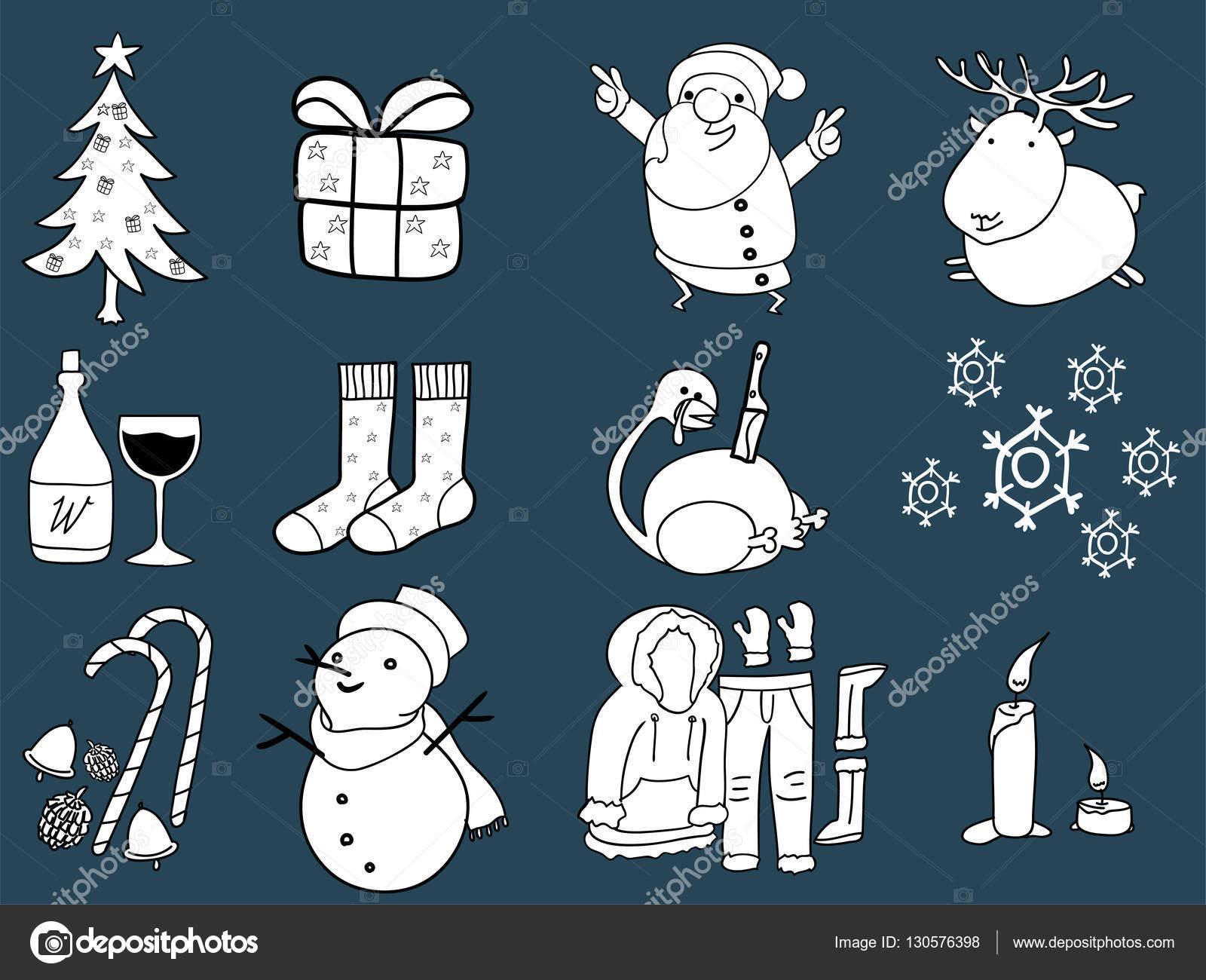 schöne Illustration Grafik-Design von Weihnachten, 12 Dinge von ...