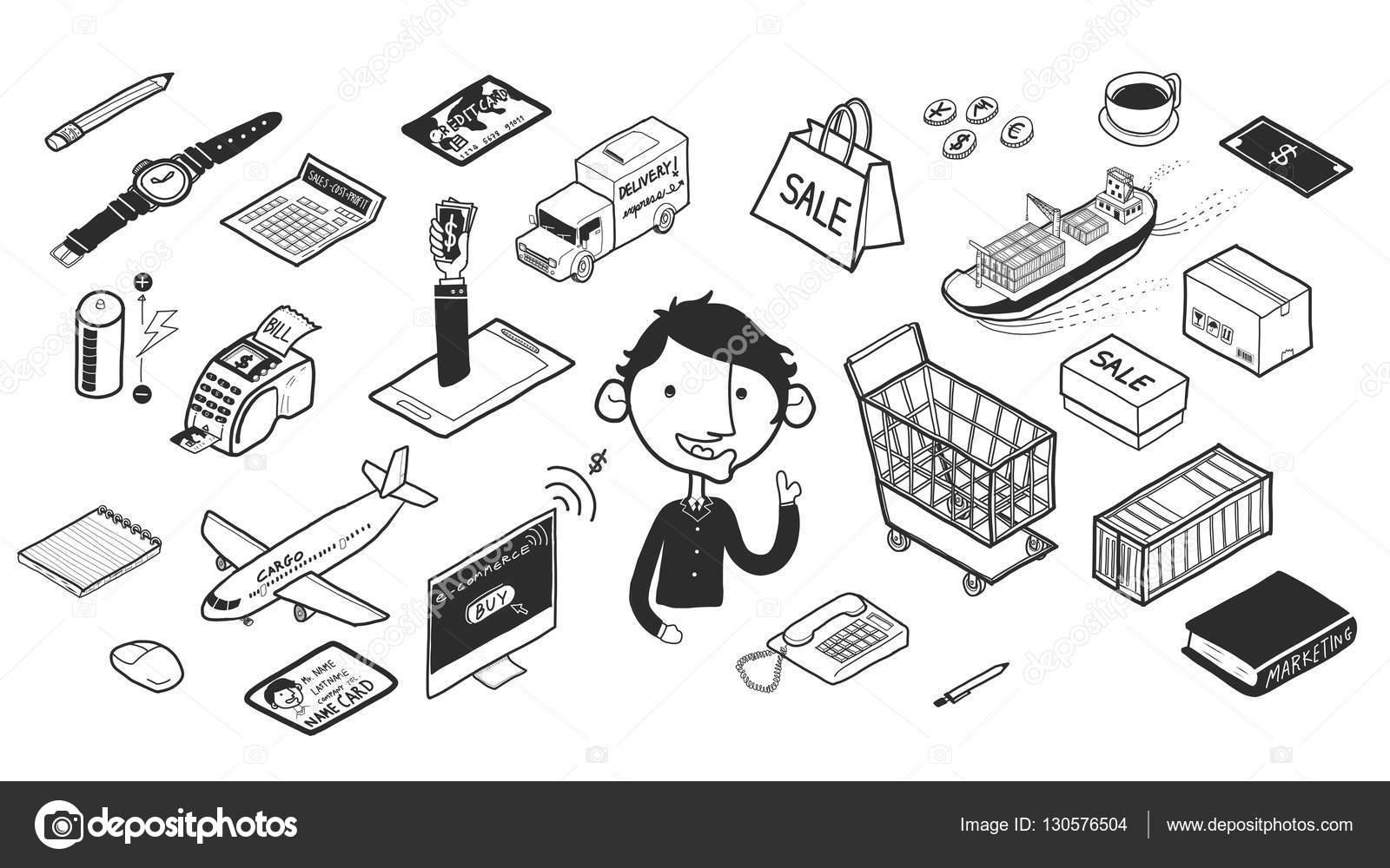 Schöne Freihändig Zeichnen Isometrische Grafik Doodle Designstil Des