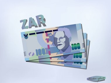 south african rand money paper design