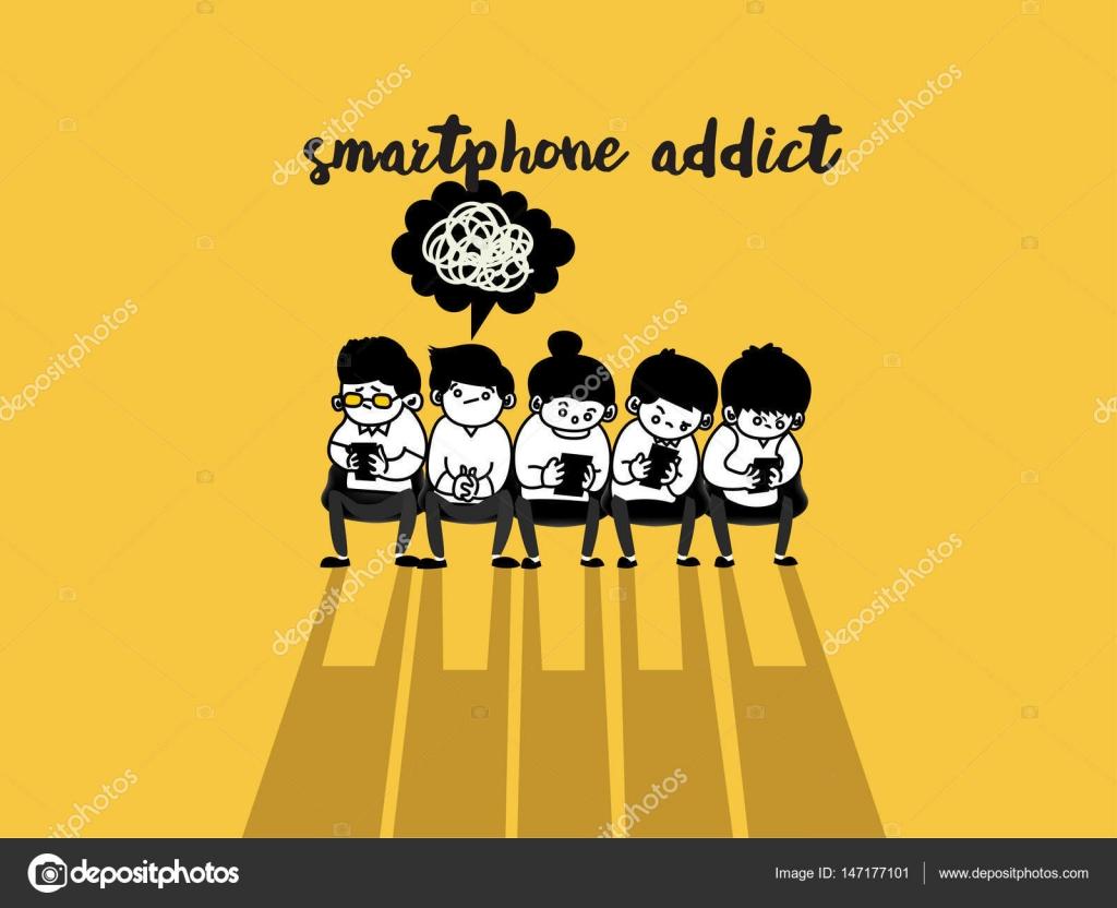 Menschen mit smart phone Geselligkeit auf Internet, Smartphone sucht ...