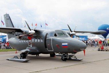 Twin-engine turboprop aircraft L-410 at the International Aviati