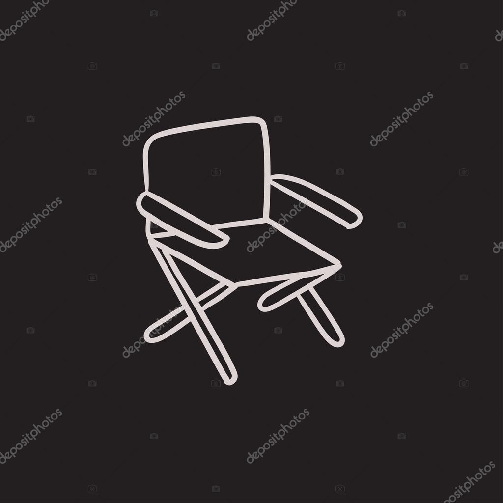 Sessel skizze  Sessel Skizze Symbol — Stockvektor #125368974