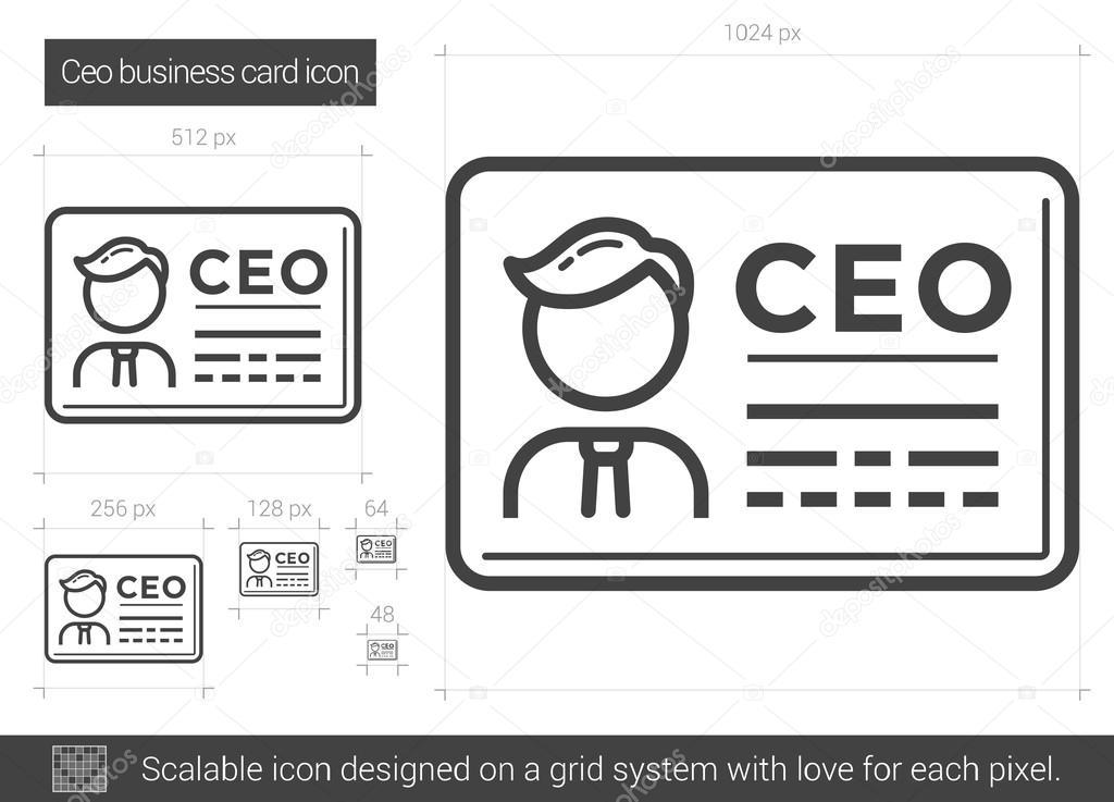 CEO business card line icon. — Stock Vector © rastudio #127443406