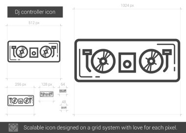 Dj controller line icon.