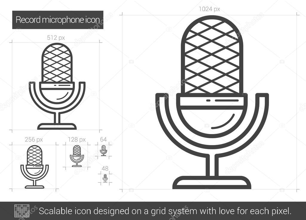 Record Mikrofonsymbol — Stockvektor © rastudio #127452638