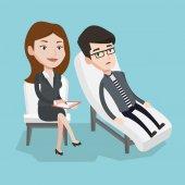 Psycholog s relací s pacientem