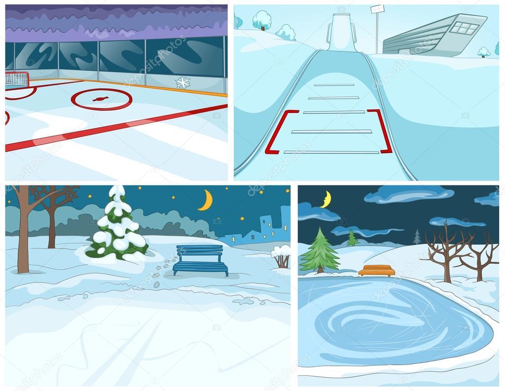Jeu de dessin anim vectorielles des origines de l hiver image vectorielle rastudio 127906250 - Dessin de l hiver ...